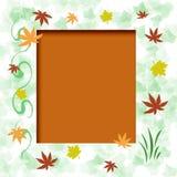 秋天框架叶子 向量例证