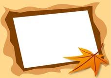 秋天框架喜欢照片 免版税库存图片