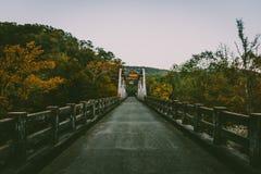 秋天桥梁 库存照片