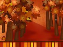 秋天森林的背景 图库摄影