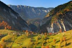 秋天横向全景罗马尼亚 库存图片