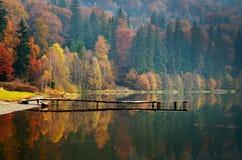 秋天横向山日出 免版税库存照片
