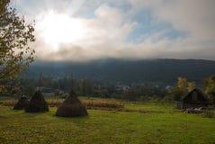 秋天横向早晨ural的俄国 免版税库存图片
