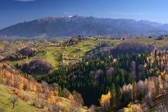 秋天横向罗马尼亚 库存照片