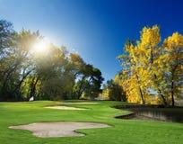 秋天横向 高尔夫球 免版税库存照片