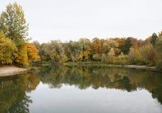 秋天横向 免版税库存图片