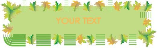 秋天横幅 温暖的绿色背景 海报 库存图片