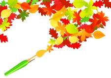 秋天油漆刷 免版税图库摄影