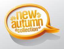 秋天泡影收集新的演讲 库存图片
