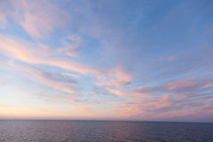 秋天波儿地克的夜间海运日落 库存照片