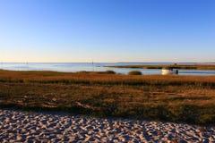 秋天海滩颜色 免版税库存图片