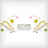 秋天漩涡、植物和叶子,最小 免版税库存照片