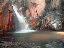 秋天瀑布,绘的♥ 免版税库存照片