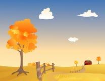 秋天牧场地 库存照片