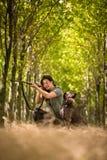 秋天狩猎期 狩猎 免版税库存图片