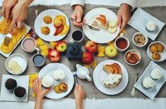 秋天甜点和烘烤庆祝家庭观念 库存图片