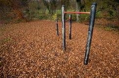 秋天的儿童的游乐场 库存照片