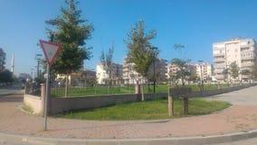 秋天的城市公园 免版税库存照片
