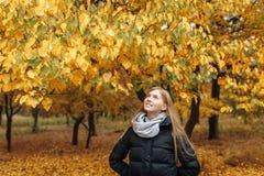 秋天的女孩 库存照片