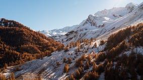 秋天的意大利Alpes 图库摄影