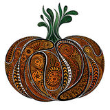 秋天的抽象颜色南瓜样式 库存图片