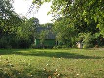秋天的苹果园 库存照片