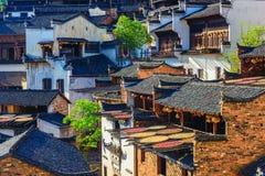 秋天的风景在江西huangling的省的 免版税库存照片