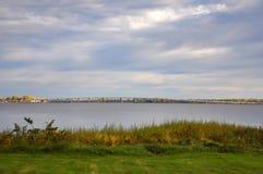秋天的,佛蒙特,美国湖Champlian 免版税库存图片