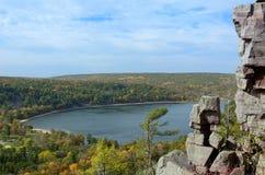 秋天的Devils湖 库存照片