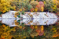 秋天秋天颜色本质上 免版税图库摄影