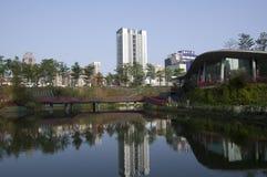 秋天红色谷公园台中台湾 图库摄影