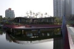 秋天红色谷公园台中台湾 库存图片