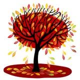秋天结构树 皇族释放例证