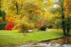 秋天美好的城市横向 图库摄影