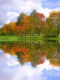 秋天美好的横向 库存照片
