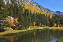 秋天美妙的横向山 免版税库存图片