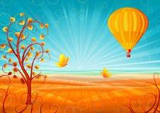 秋天美妙的风景 免版税库存照片