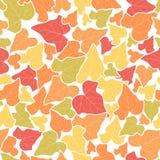 秋天背景叶子无缝的向量黄色 库存图片