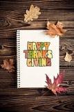 秋天背景弓蜡烛看板卡构成结果实叶子老纸卷感恩顶层火鸡蔬菜 库存照片