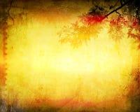 秋天背景grunge叶子 免版税库存照片