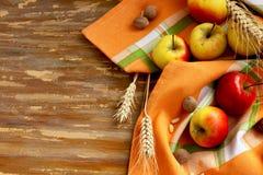 秋天苹果的分类 库存照片