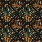 秋天草甸无缝的样式传染媒介花卉设计原始斯堪的纳维亚人 向量例证