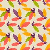秋天莓果无缝的样式 库存照片