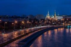 秋天莫斯科晚上 免版税图库摄影
