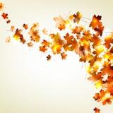 秋天落的叶子背景。EPS 10 免版税库存照片