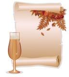秋天葡萄酒背景,传染媒介 库存图片