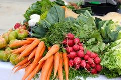 秋天蔬菜在市场上 图库摄影