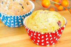 秋天蛋糕用莓果 免版税库存图片
