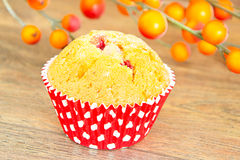 秋天蛋糕用莓果 库存图片