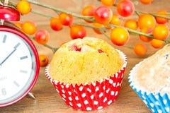 秋天蛋糕用莓果 免版税库存照片